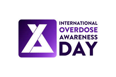 International Overdose Awareness Day. August 31. Holiday concept. Template for background, banner, card, poster with text inscription. Vector EPS10 illustration.