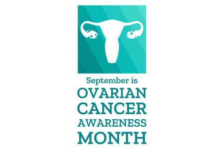 Ovarian Cancer Awareness Month. Template for background, banner, card, poster with text inscription. Vector EPS10 illustration.