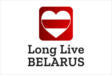 Inscription Long Live Belarus. Concept of protests in Belarus. Template for background, banner, card, poster with text inscription. Vecteurs