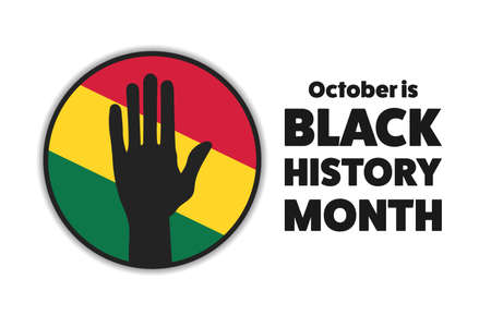 Black History Month. Holiday concept. Template for background, banner, card, poster with text inscription.