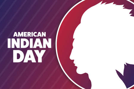 American Indian Day. Holiday concept. Template for background, banner, card, poster with text inscription. Vector EPS10 illustration. Ilustração