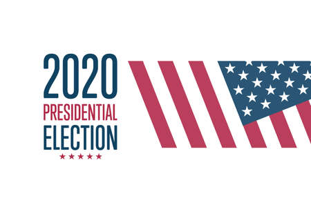 The 2020 United States Presidential Election concept. Template for background, banner, card, poster with text inscription.