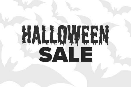 Halloween. October 31. Sale concept. Template for background, banner, card, poster with text inscription. Vector EPS10 illustration.