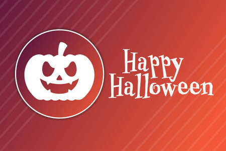 Halloween. October 31. Holiday concept. Template for background, banner, card, poster with text inscription. Vector EPS10 illustration. Ilustração