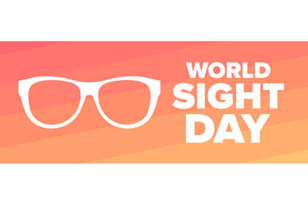 World Sight Day. Holiday concept. Template for background, banner, card, poster with text inscription. Vector illustration. Ilustração
