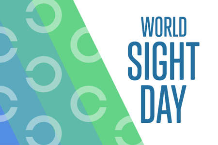 World Sight Day. Holiday concept. Template for background, banner, card, poster with text inscription. Illustration