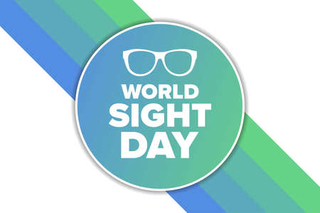 World Sight Day. Holiday concept. Template for background, banner, card, poster with text inscription. Vector illustration. Illustration