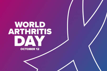 World Arthritis Day. October 12. Holiday concept. Template for background, banner, card, poster with text inscription. Vector EPS10 illustration. Vecteurs
