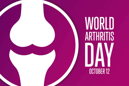 World Arthritis Day. October 12. Holiday concept. Template for background, banner, card, poster with text inscription. Vector EPS10 illustration.