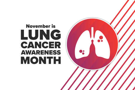 November is Lung Cancer Awareness Month. Holiday concept. Template for background, banner, card, poster with text inscription. Vektoros illusztráció