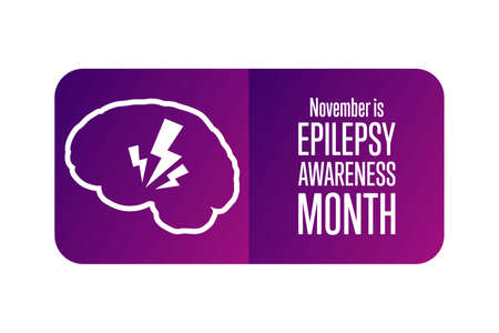 November is National Epilepsy Awareness Month. Holiday concept. Template for background, banner, card, poster with text inscription. Vektoros illusztráció