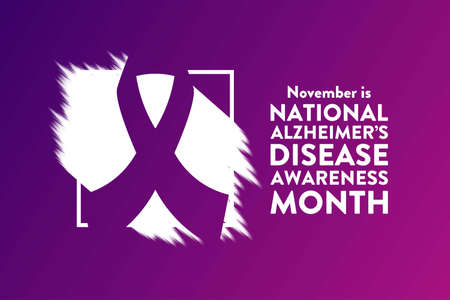 November is National Alzheimers Disease Awareness Month. Holiday concept. Template for background, banner, card, poster with text inscription. Vektoros illusztráció