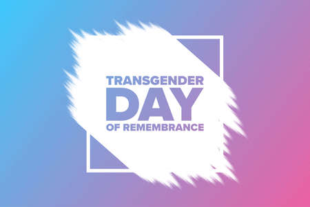 Transgender Day of Remembrance. November 20. Holiday concept. Template for background, banner, card, poster with text inscription.