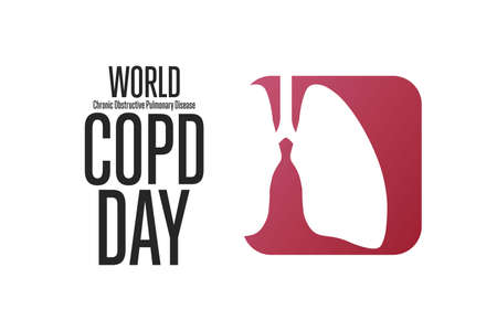 World COPD Day. Chronic Obstructive Pulmonary Disease. Third Wednesday of November. Holiday concept. Vector illustration.