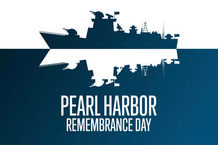 National Pearl Harbor Remembrance Day. December 7. Holiday concept. Template for background, banner, card, poster with text inscription. Vector EPS10 illustration. Vecteurs