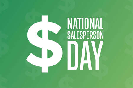 National Salesperson Day. Holiday concept. Template for background, banner, card, poster with text inscription. Vector EPS10 illustration.
