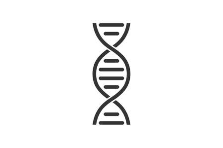 DNA. Simple icon. Flat style element for graphic design. Vector illustration.