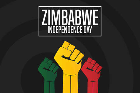 Happy Zimbabwe Independence Day. April 18. Holiday concept. Template for background, banner, card, poster with text inscription. Vector illustration.