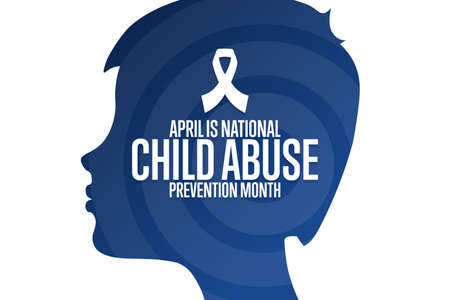April is National Child Abuse Prevention Month. Holiday concept. Template for background, banner, card, poster with text inscription.