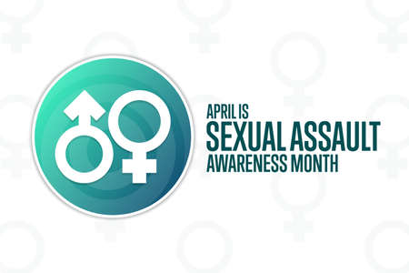 April is Sexual Assault Awareness Month. Holiday concept. Template for background, banner, card, poster with text inscription.