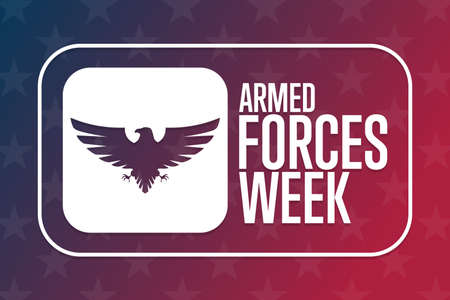 Armed Forces Week. Holiday concept. Template for background, banner, card, poster with text inscription. Vector EPS10 illustration.