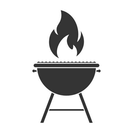 Grill Simple icon. Flat style element for graphic design.