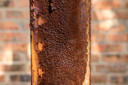 rust on an old pillar