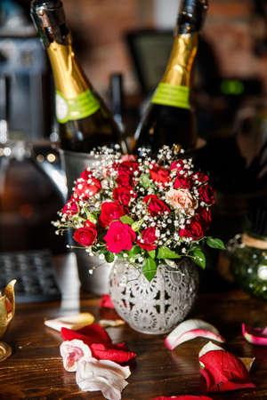 romantic mood in the bar