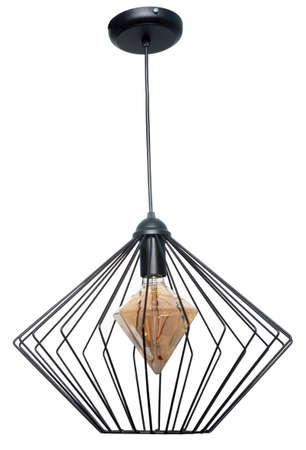 lampe décorative suspendue au plafond.lampe moderne isolé sur fond blanc Banque d'images