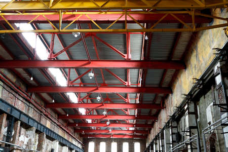 Empty factory building or warehouse building with concrete floor for industry background. Reklamní fotografie