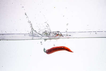 hot chili pepper in the water