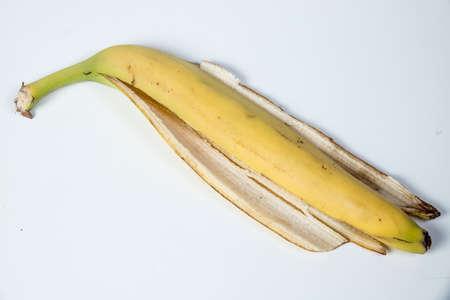 Bananas Skin isolated on white background. banana, peel.