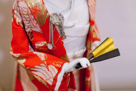 Japanese statuette in traditional kimono