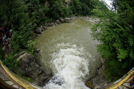 Waterfall Probiy, Carpathians, Yaremche