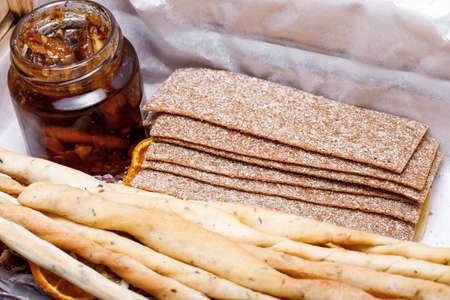 homemade jam in a jar. Still life