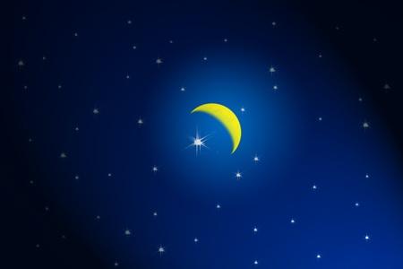 Moonlight on sky photo