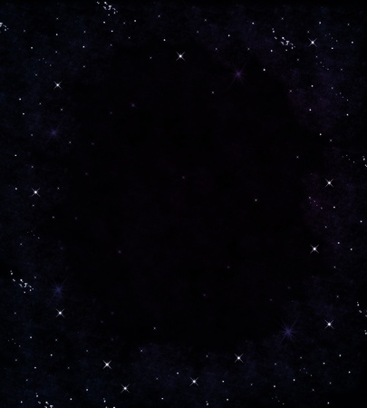 outer space: Star on sky at night