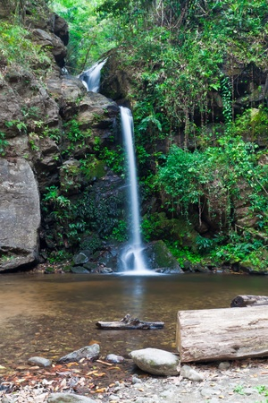 Deep forest Waterfall in doi suthep Chiang mai Thailand