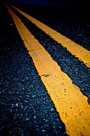 Road Marking - Double Yellow Lines photo