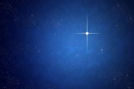 Bright star on dark sky Stock Photo - 12750026