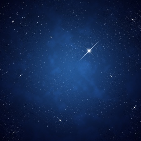 Star on sky at night  Stock Photo - 12750065