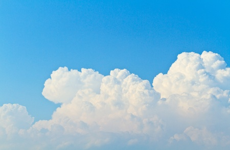 Blue sky and white cloud background Stock Photo - 13210736
