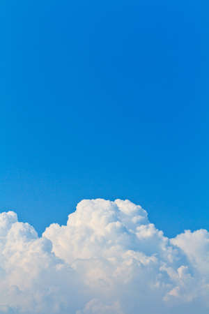 Blue sky and white cloud background  photo