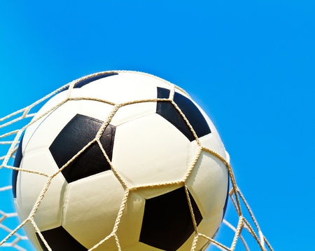 Soccer ball in net Stock Photo - 13274969