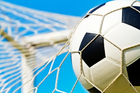 Soccer ball in net Stock Photo - 13274998