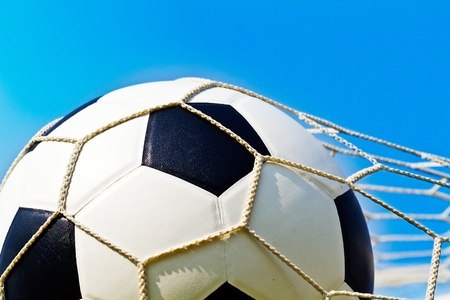 Soccer ball in net Stock Photo - 13275002