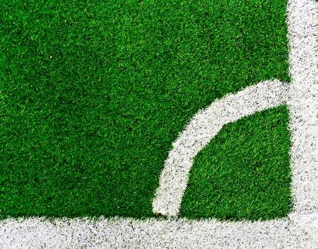 Corner of a soccer field  photo