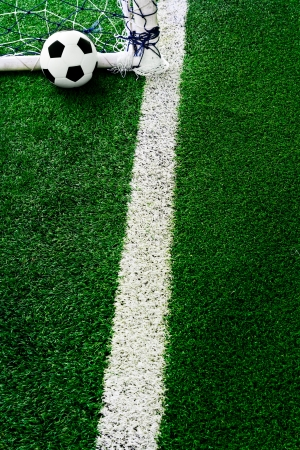 Soccer ball on green grass Stock Photo - 13668127