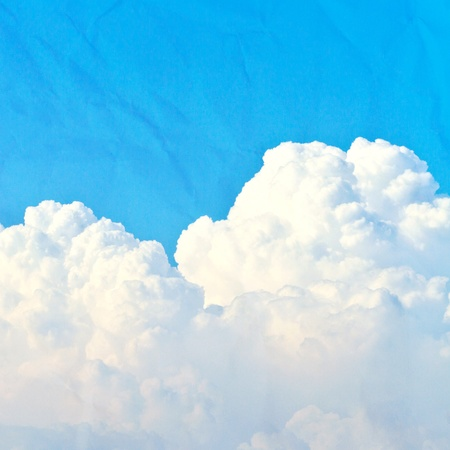 cloud and blue sky on paper Stock Photo - 13958175