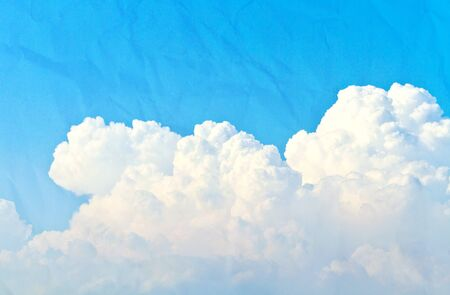 cloud and blue sky on paper Stock Photo - 13958181